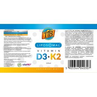 LIPOSOMAL VITAMIN D3+K2 - 100ml [TiB®]