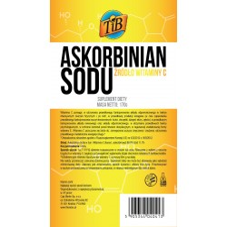 ASKORBINIAN SODU (ŹRÓDŁO WITAMINY C) - 170g [TiB®]