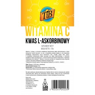 WITAMINA C (KWAS L-ASKORBINOWY) - 170g [TiB®]