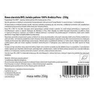 KAWA ZIARNISTA BIO 100% ARABICA - 250g [This is BIO®]
